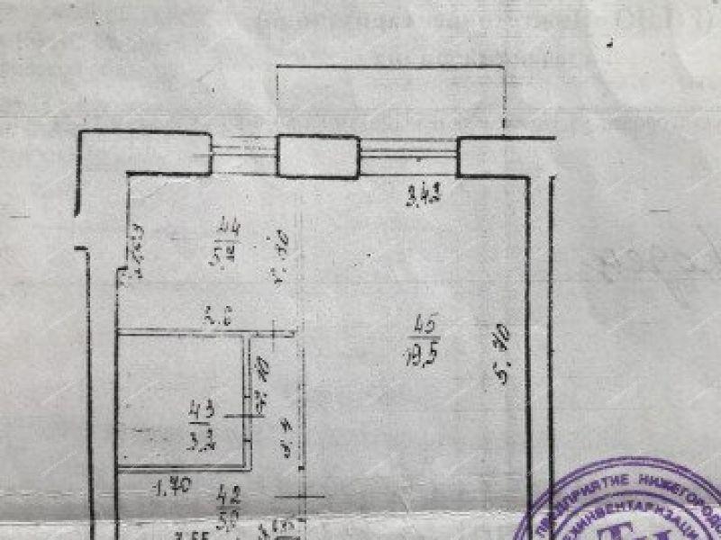 однокомнатная квартира на улице Мелиораторов дом 12 город Городец