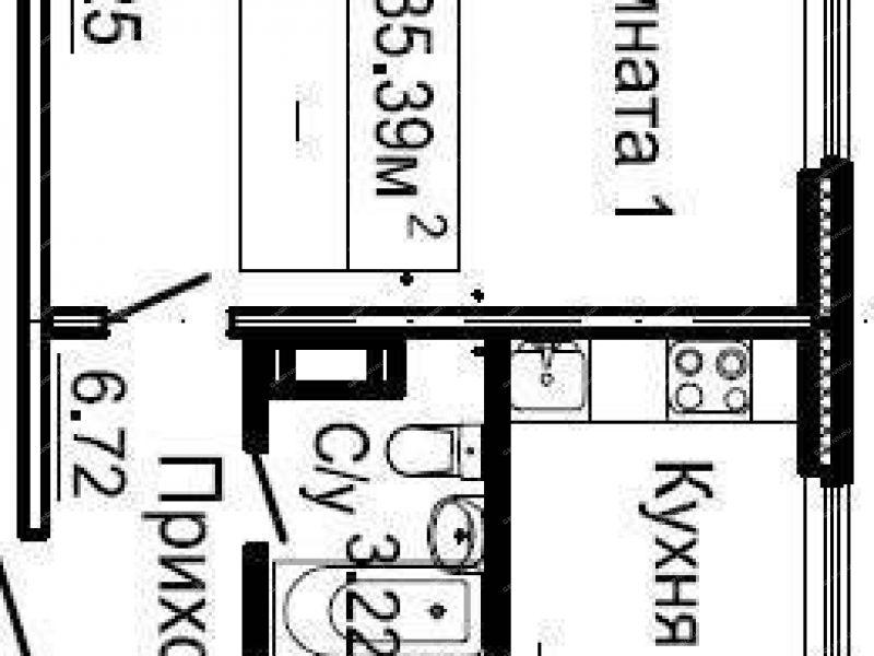 однокомнатная квартира в новостройке на улице Малоэтажная