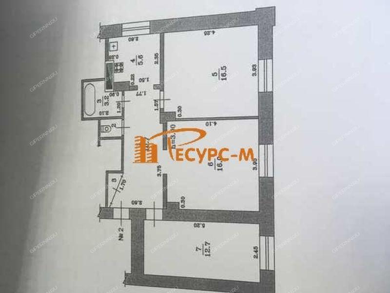 трёхкомнатная квартира на улице Белякова дом 8 город Выкса