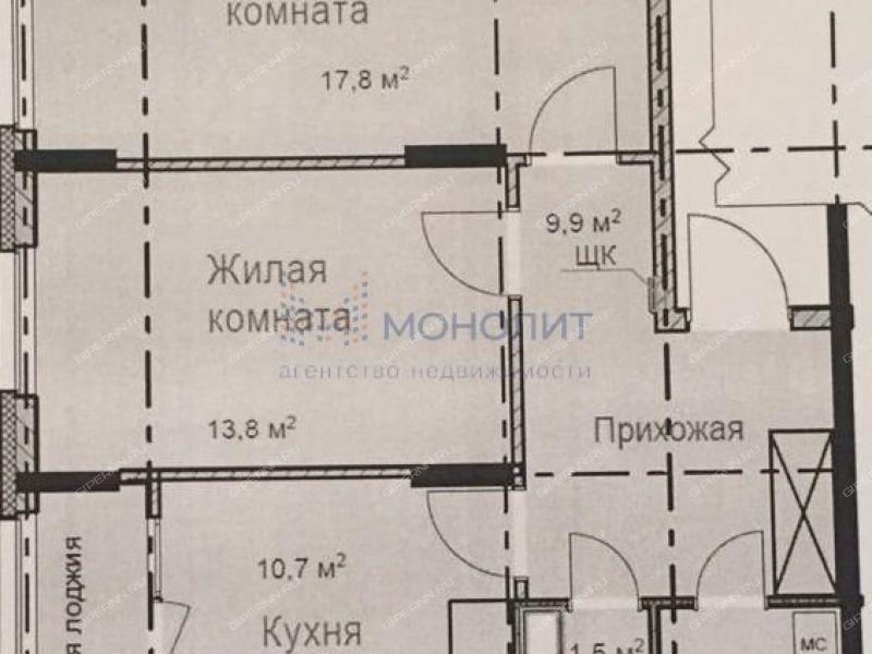 двухкомнатная квартира в новостройке на улице Романтиков