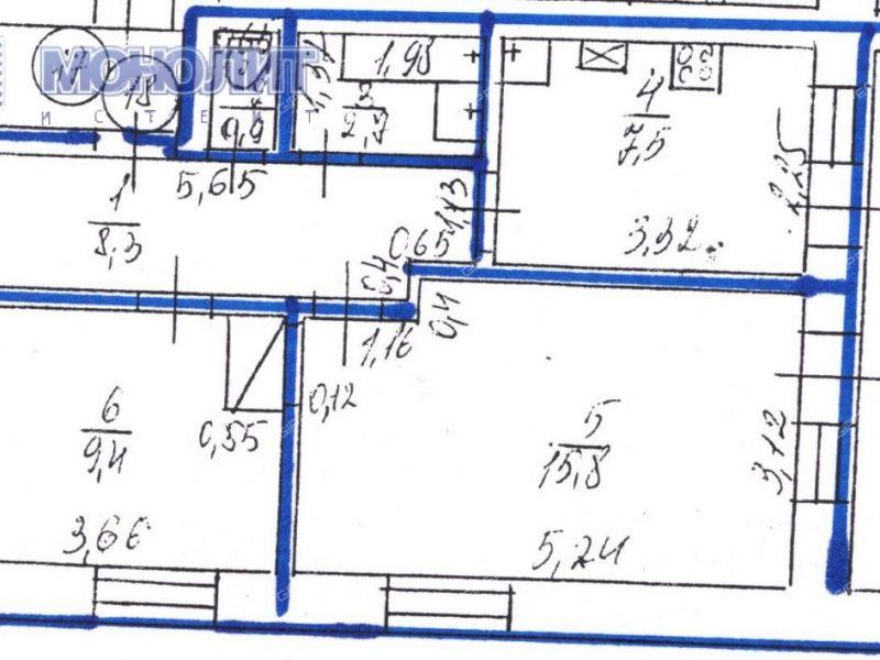 двухкомнатная квартира на улице Молодёжная дом 6 деревня Кужутки