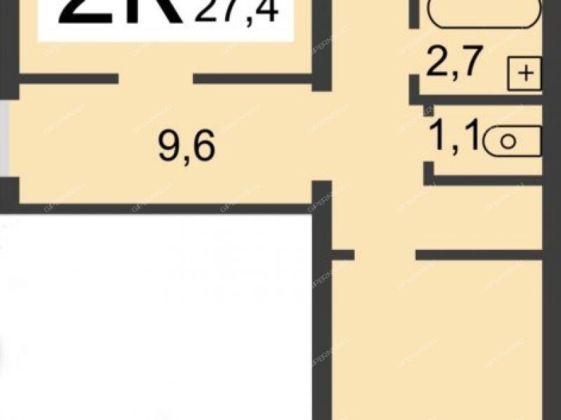 двухкомнатная квартира на улице Июльских Дней дом 16