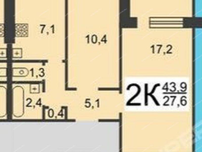 двухкомнатная квартира на Комсомольской площади дом 2 к2